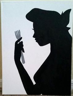 Ariel Silhouette Painting by FableArts on Etsy