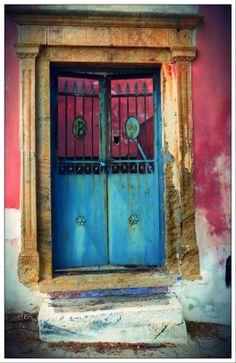 Leros island - Greece Greece, Windows, Doors, Island, Colour, Frame, Painting, Inspiration, Home Decor