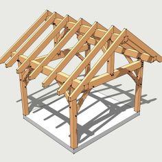 12x14 Timber Frame Plan