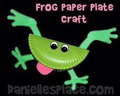 Frog Paper Plate Bible Craft for Sunday School from www.daniellesplace.com