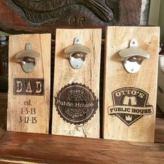 CUSTOM listing Rustic laser engraved wall bottle openers beer opener Pastor's Pub CUSTOM listing Rustic laser engraved wall bottle openers beer opener vintage mens gift, fathers day dad gift for dad by Dogtowncollectibles on Etsy Laser Cutter Ideas, Laser Cutter Projects, Cnc Projects, Trotec Laser, Laser Art, Engraving Art, Laser Engraving, Engraving Ideas, Laser Cutter Engraver