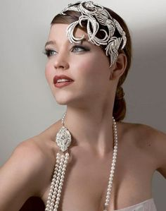 headpiece by DaisyCombridge love the long string of pearls