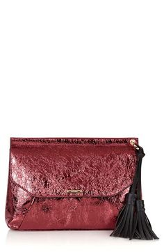 Topshop Metallic Tassel Envelope Clutch available at #Nordstrom