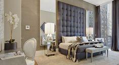 Park Avenue master bedroom, NYC. AQ Interior Design.