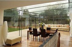 striking glass roof extension, perfect for a modern house.