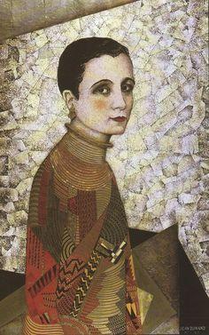 Portrait Of Madame Agnès By Jean Dunand