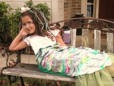 mermaid costume using cupcake wrappers by queen bee in the kitchen, via Flickr