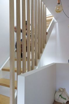 Banisters, balustrades and building regs - The alternative loft staircase Loft Staircase, Staircase Runner, Staircase Remodel, Staircase Makeover, House Stairs, Grand Staircase, Modern Stair Railing, Modern Stairs, Railing Design