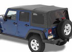 Bestop Supertop NX Soft Top with Tinted Windows without Doors for 07-16 Jeep Wrangler Unlimited JK 4 Door