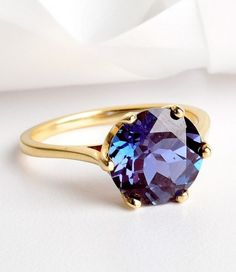 Alexandrite and gold.