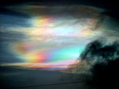 Rainbow Over Clouds Rainbow Sky, Storms, Northern Lights, Clouds, Space, Nature, Painting, Art, Floor Space