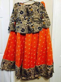 Baby Frock Pattern, Frock Patterns, Kalamkari Tops, India Fashion, Girl Fashion, Frock Models, Kids Indian Wear, Baby Girl Dresses, Baby Dress