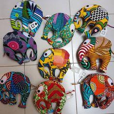 Les doudous éléphants # notabenecreations #conceptstore #doudous #elephants #waxprint #wax #pagneafricain