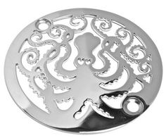 Octopus Shower Drain, Polished Stainless Steel - $55