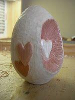 Aloha from Arkansas Minnesota: Carving Basswood Egg - Valentine's Day Theme