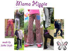 "Damenhose ""Mama Hippie"" Nähanleitung und Schnittmuster - Nähanleitungen bei Makerist"