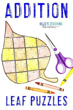 Your 1st, 2nd, or 3rd grade kids are sure to love these ADDITION leaf games during the fall months of September, October, 3rd Grade Classroom, 1st Grade Math, Math Classroom, Third Grade, Maths Puzzles, Math Activities, Math Fact Practice, Fluency Practice, Thinking Skills