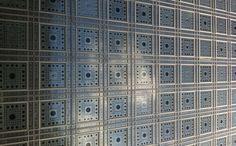Facade of the Institute du monde arabe in Paris. Mary Katrantzou, turn that into a print, please