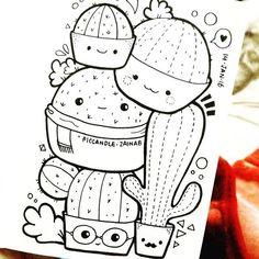 75 Creative Doodle Art Tutorials and Examples – Doodles Cute Doodle Art, Doodle Art Designs, Doodle Art Drawing, Cute Art, Doodling Art, Kawaii Doodles, Cute Doodles, Kawaii Drawings, Cute Drawings