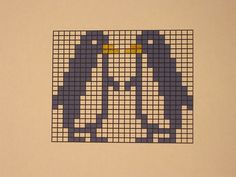 Penguins chart pattern for knits, but would make a cute cross stitch gift tag