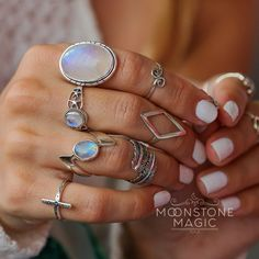 Moonstone Ring - Aurora