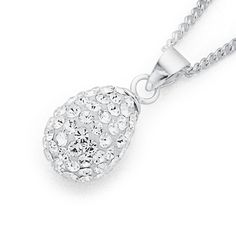 Sterling Silver Crystal Pendant