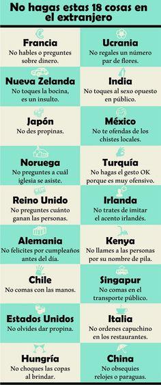 18 cosas que no debes hacer ni decir en el extranjero - Planeta Curioso