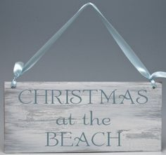 Christmas At The Beach Sign
