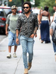http://chicerman.com  billy-george:  Lenny Kravitz killing it as usual!  Source: GQ.com  #streetstyleformen