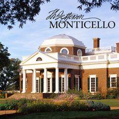 Monticello - Thomas Jefferson's Home in Charlottesville, Virginia.