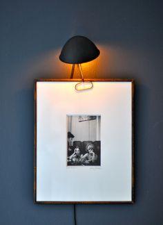 task light clipped to art = reading light