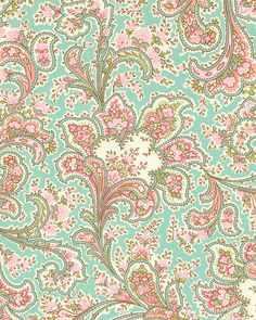 Romance - Paisley Floral - Sea Mist Blue. From eQuilter.com