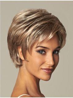 "8"" Short Wavy Great Synthetic Wigs"