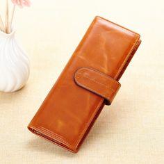 Billeteras de cuero auténtico largo para hombres o mujeres carteras online barata con más soportes para tarjetas [ANW61109] - €26.55 : bzbolsos.com, comprar bolsos online