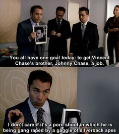 Johnny needs a job ... One of my favourite scenes this season