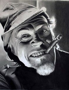 Old Man Portrait, Portrait Art, Grey Art, White Art, Ozzy Tattoo, Graffiti Drawing, Cover Up Tattoos, Face Expressions, Chicano
