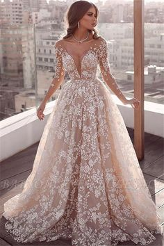 Looking for plus size wedding dresses in Lace A-line Long Sleeves styles, and hope to custom made Zipper Lace bridal dresses in affordable price? Newarrivaldress covers all on this elegant Elegant Lace Appliques Wedding Dresses Fairy Wedding Dress, Pretty Wedding Dresses, V Neck Wedding Dress, Applique Wedding Dress, Luxury Wedding Dress, Long Sleeve Wedding, Cheap Wedding Dress, Bridal Dresses, Lace Applique
