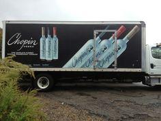 Chopin Vodka Truck Wrap.