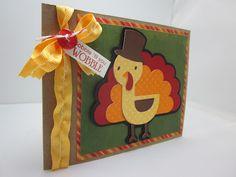 Create a Critter 2  Gobble 'til you Wobble Turkey Card