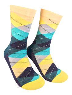 Best Wedding Party Socks - Yellow/Blue Argyle Groomsmen Socks, Argyle Socks, Dress Socks, Color Patterns, Yellow, Blue, Fashion Dresses, Pairs, Stylish