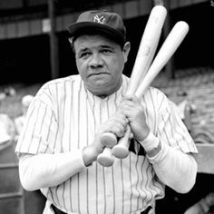 "#57 Babe Ruth - ""The way a team plays as a whole determines its success. You may have the greatest bunch of individual stars in the world, but if they don't play together, the club won't be worth a dime."""