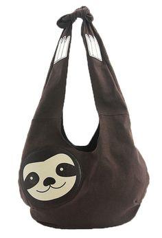 Sleepyville Critters Hang Loose Sloth Shaped Hobo Shoulder Bag...