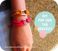 I'm a proud crafter: DIY Pop Can Tab Bracelet