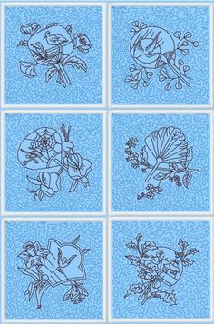 Advanced Embroidery Designs - Oriental Fan Quilt Block Set II
