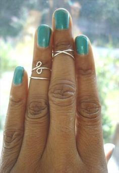 Midi Ring Above The Knuckle Sterling Silver Knuckle Ring REVERSIBLE. £9.99, via Etsy.