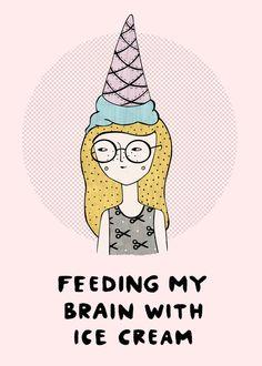 feeding my brain with ice cream // melissa chaib