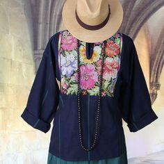 Hand embroidered Tunic, Huipil Flowers Guatemala Hippie, Boho, Cow Girl Style   #Handmade #Huipil