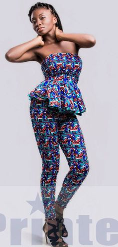 African print pants and top from Printex