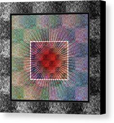 Heart Canvas Print featuring the digital art Layers Of My Heart by Dorothy Berry-Lound #printforsale #healingart #spirituality #homedecor #interiordecor