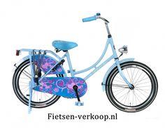 Omafiets Blauw 20 Inch | bestel gemakkelijk online op Fietsen-verkoop.nl